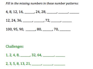 Differentiated missing number worksheet
