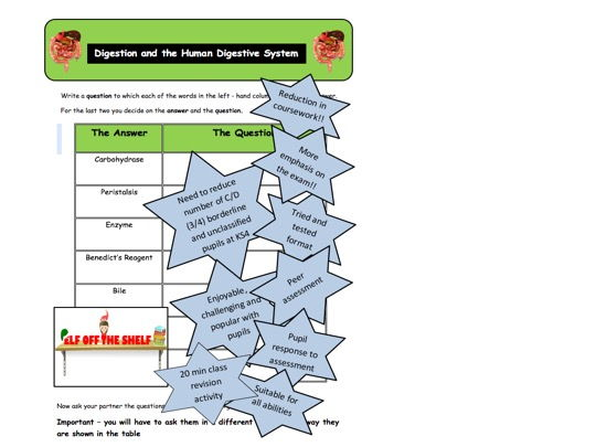 Digestion and the Digestive System in Humans KS4 Flip It