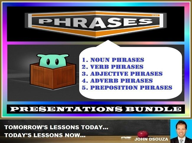 PHRASES PRESENTATIONS: BUNDLE