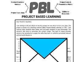 Project Based Learning Letter to Parents (Editable in Google Docs)