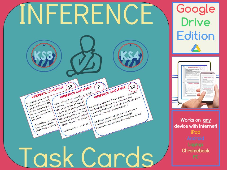 Inference Task Cards - Find Evidence to Support Your Ideas DIGITAL VERSION