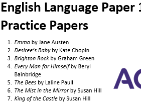 AQA GCSE English Language Paper 1 Practice Papers (7 complete papers Q1-5)