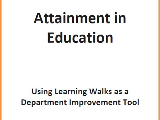 Using Learning Walks as a Department Improvement Tool