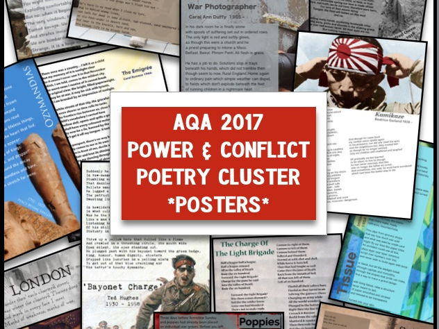 AQA 2017 Power & Conflict Anthology Display Posters