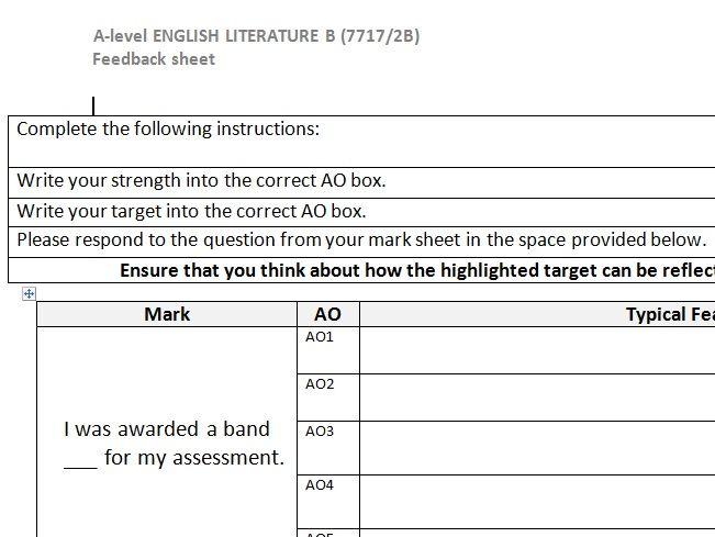 AQA A level social and political elements student mark scheme