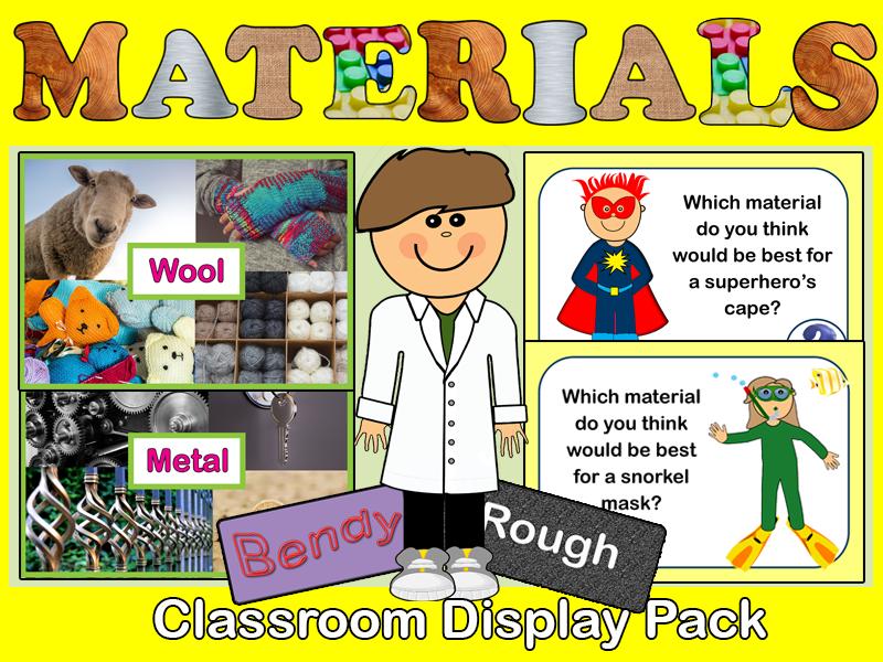 Materials Classroom Display Pack KS1