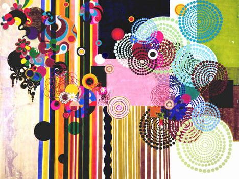 Beatriz Milhazes pattern drawing and photoshop lesson