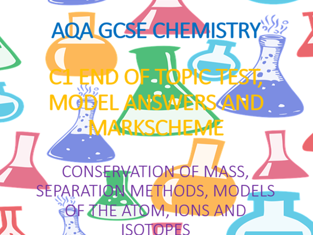 AQA GCSE Chemistry C1 Test and Answers