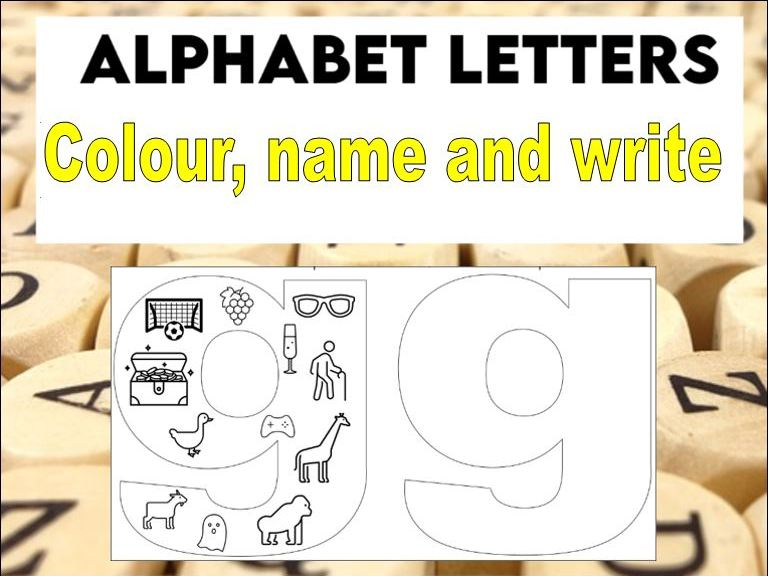 Alphabet Letters with Pictures Worksheets KS1