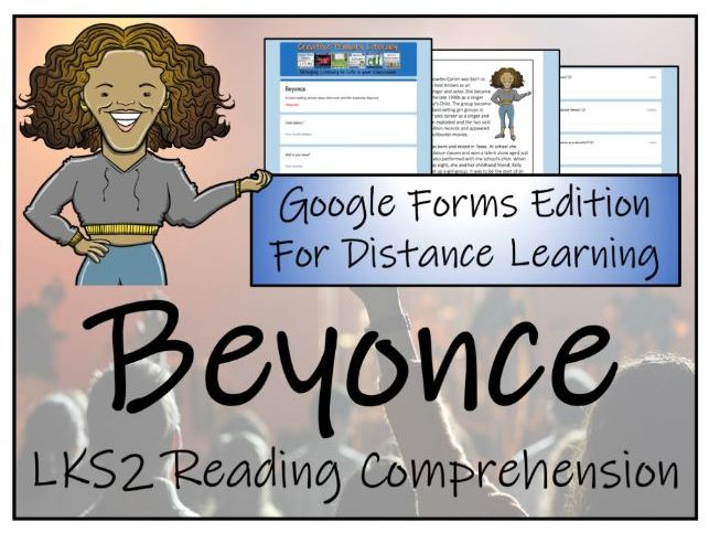 LKS2 Beyonce Reading Comprehension & Distance Learning Activity