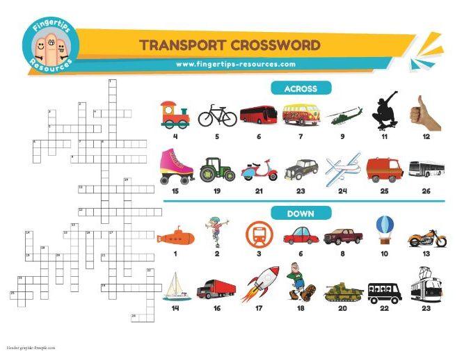 Transport Vocabulary Crossword