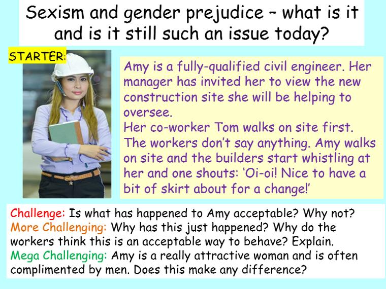 Sexism, Equality, Gender + Prejudice