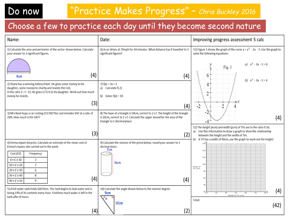 GCSE 1- 9 Expanding & Simplifying Revision