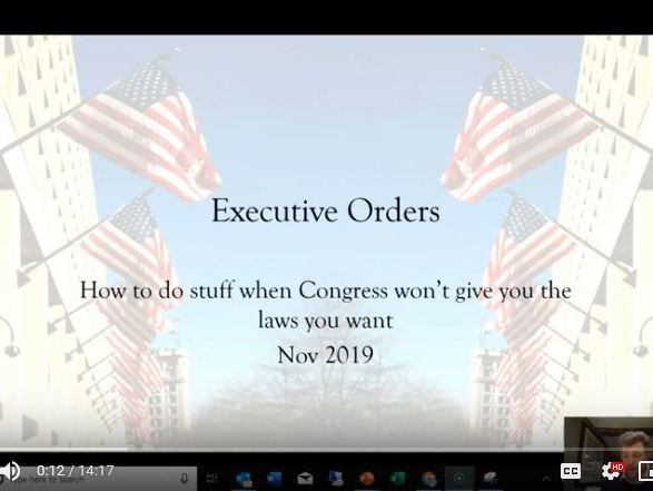 Executive Orders in the USA