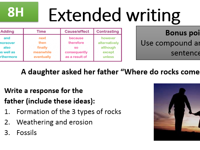 KS3 Science Complete Extended Writing Task (Yr7-8)