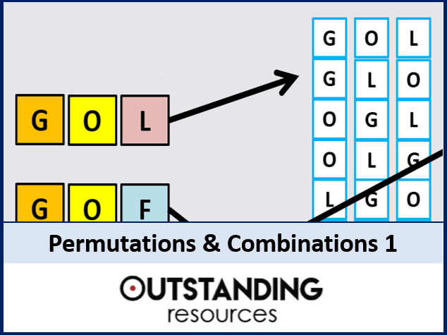 Permutations and Combinations 1 - An Introduction (+ worksheet)