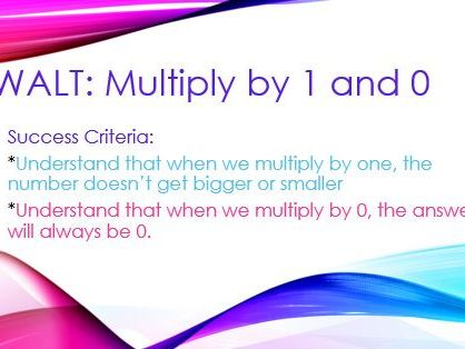 Multiply by 0 and 1 PPt