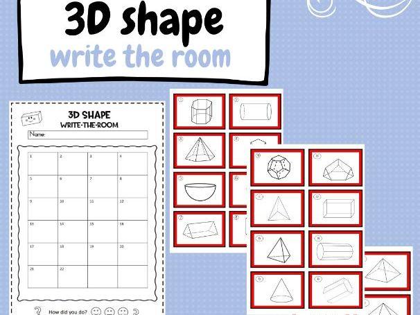 3D Shape - Write the Room