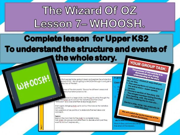 Wizard of OZ - Lesson  7 - WHOOSH