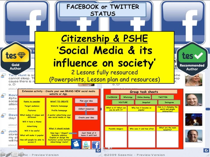 Social Media and its influence on society: Online Safety: PSHE
