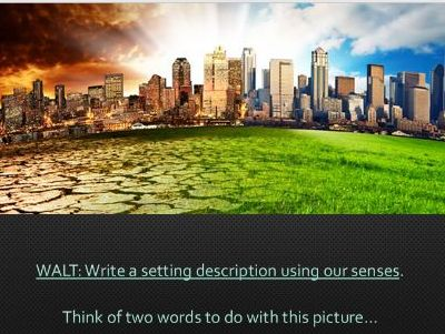 Writing lesson- Global change (THE YEAR IS 2079)