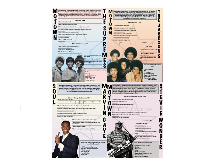 Motown Music Questions and Answers GCSE and A-LEVEL