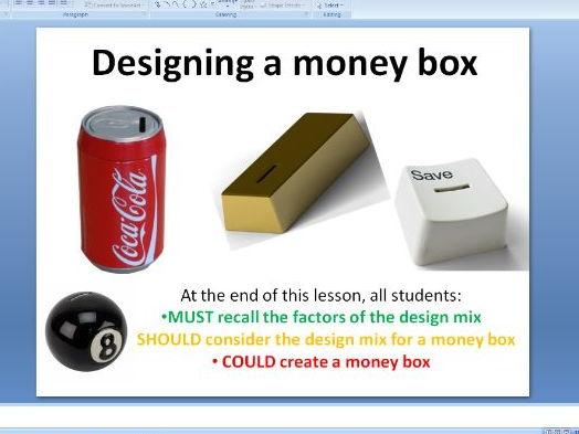 Design mix - creating a money box