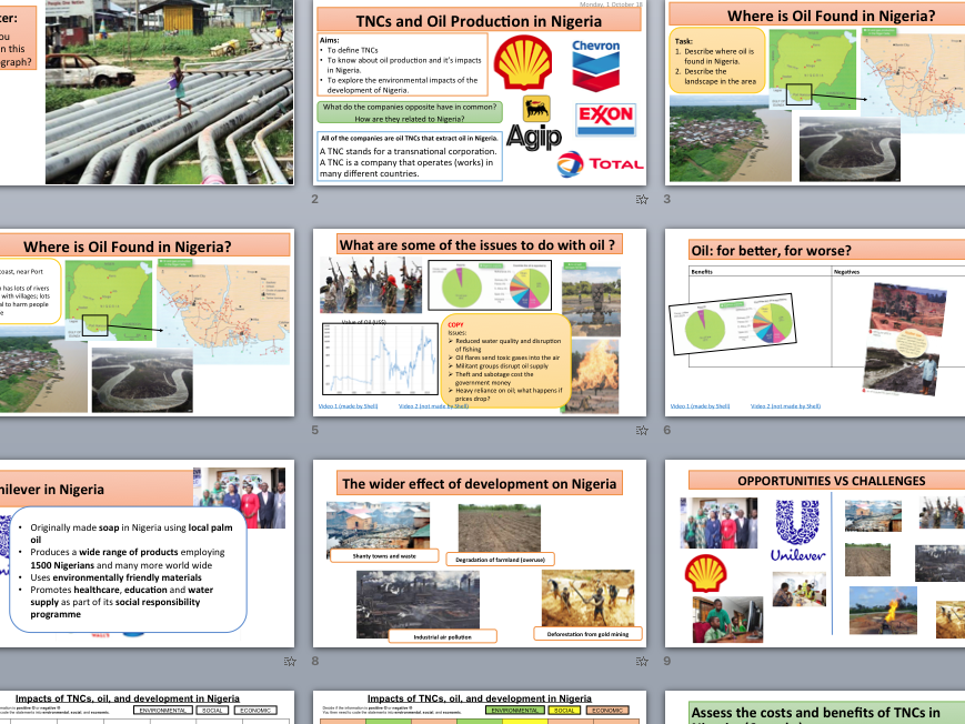 TNCs and oil (Shell) in Nigeria