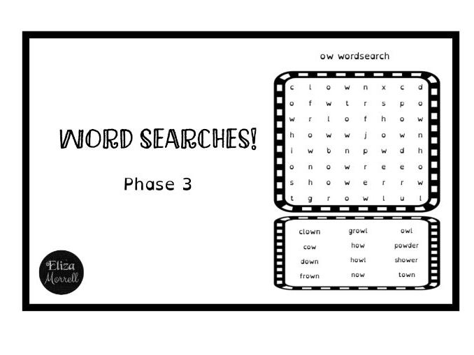 Phonics - Phase 3 - Word Searches