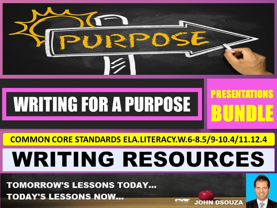 WRITING FOR A PURPOSE LESSON PRESENTATIONS BUNDLE