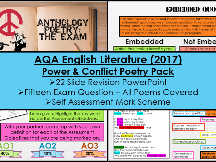English Literature Paper Two - Section B: Power & Conflict Poetry Cluster (AQA, New Specification)