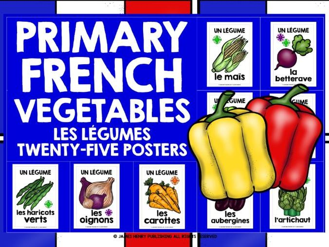 PRIMARY FRENCH VEGETABLES POSTERS