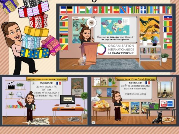 French Virtual Classrooms - Starter Scenes