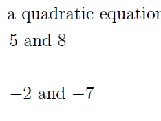 Sum and Product of Roots of Quadratic Equation worksheet no 2 (with solutions)