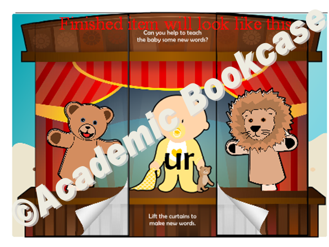 Puppet theatre word maker - Phase 3 'ur' words