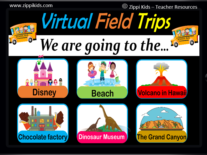 Virtual Field Trips - Set 3 | Places | Fun Friday Activities - 38 Google Slides