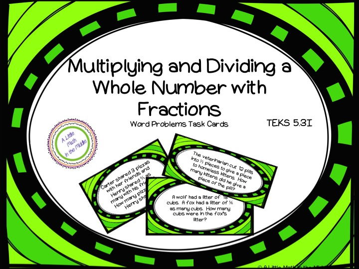 Multiply or Divide Whole Numbers by Fractions