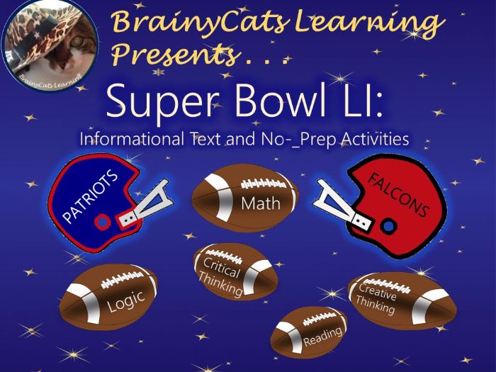 Super Bowl 2017:  Informational Text and No-Prep Activities