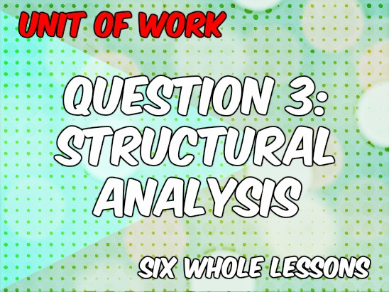 UoW: KS4 English Language Paper 1 (New Spec) - Question 3 (Structural Analysis)