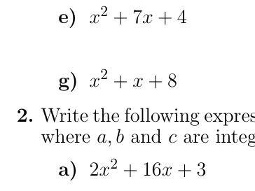 Completing the square Bundle