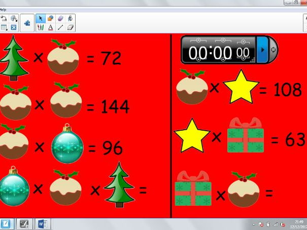 Christmas Themed Maths Fluency
