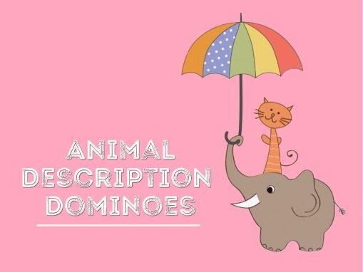 Animal Description Dominoes