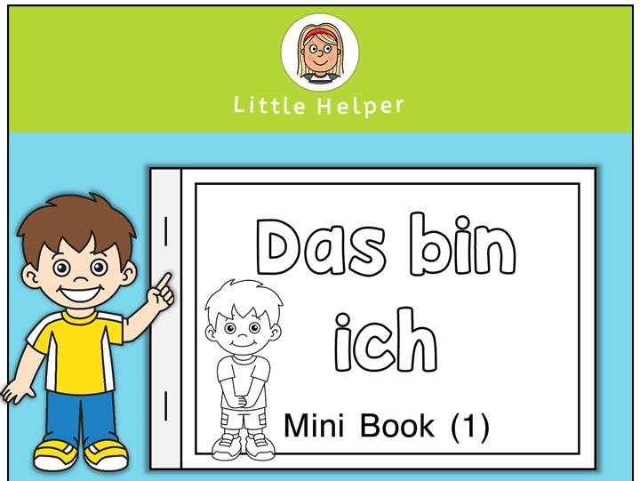 German all about me - Mini Book