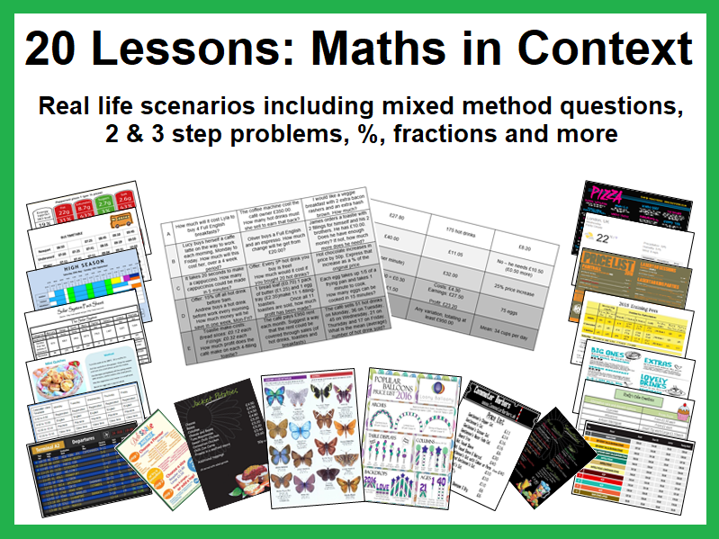 20 Lessons: Maths in Context