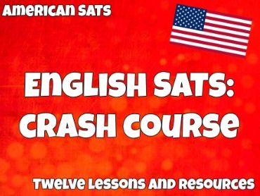 American SAT English Crash Course: Optional Essay, Writing & Language, Reading
