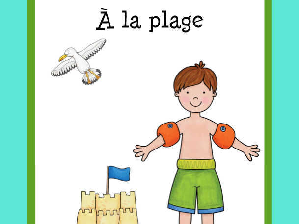 Vocabulaire à la plage  (On the Beach Vocabulary)