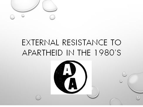 Global Resistance to Apartheid