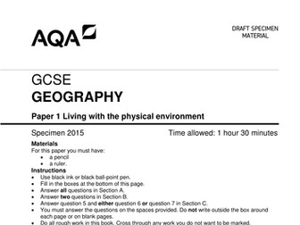 AQA Geography (2016-) - Paper 1 assessment bundle (question papers & mark schemes)