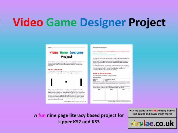 Video Game Designer Project for Upper KS2 and KS3