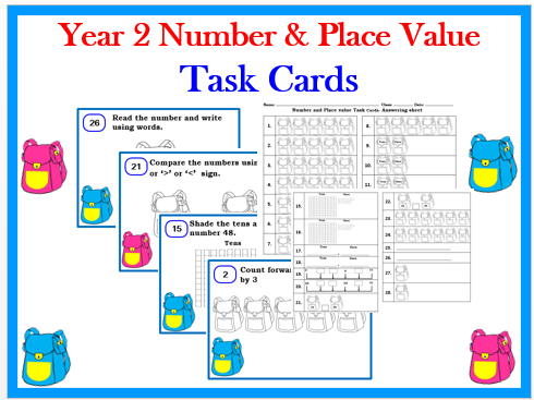 Year 2 Number and Place Value Task cards